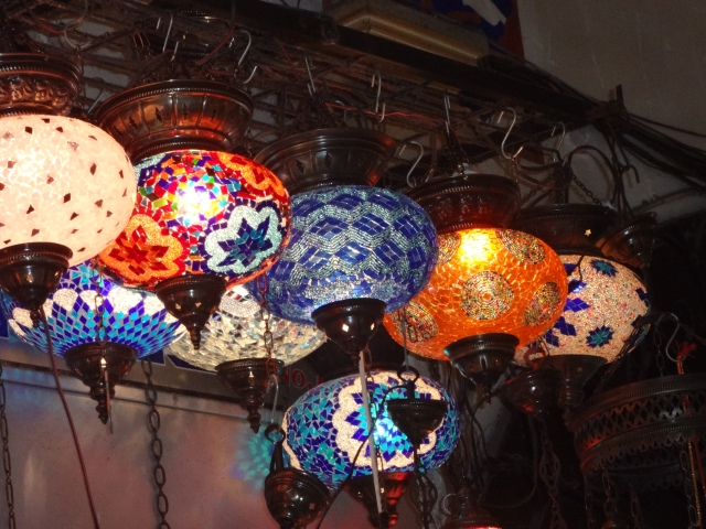 These kind of lamps were everywhere in the Bazaar.